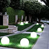 8er Set LED Außen Solar Lampen Kugel Design Erd Spieß Steck Leuchten Garten Weg Beleuchtung