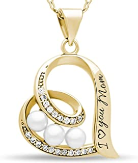 Best gold mum necklace Reviews