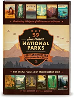 4af73c5c 59 Illustrated National Parks - Hardcover: 100th Anniversary of the National  Park Service