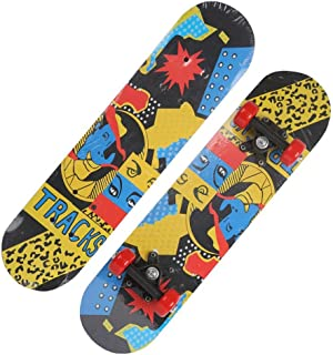 Mini Complete Skateboard-Beginner Skateboard 23.6 Inch Abstract Anime Pattern Children Skateboard Pop Skateboard Cruiser