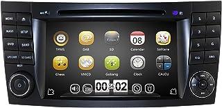 Reproductor de DVD para Mercedes-Benz Clase E W211/G-Class W463/CLK W209/CLS-Class W219 (7 pulgadas, 2 DIN, compatible con conexión de espejo, Bluetooth, RDS, mando a distancia en volante