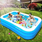 efubaby Inflatable Pool, 120' X 72' X 22' Full-Sized Swimming Pools Inflatable Kid Pools Blow up Pool Toddler Pool Family Pool for Baby, Kiddie, Adult Ages 3+ Outdoor Garden Backyard Ground Party