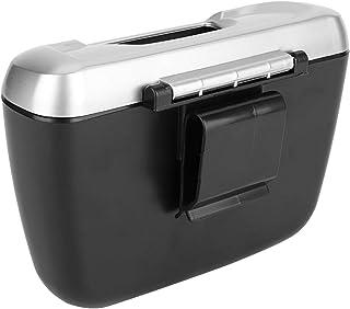 Lixeira para carro, com fivela removível, lata de lixo para carro, tamanho compacto para carro
