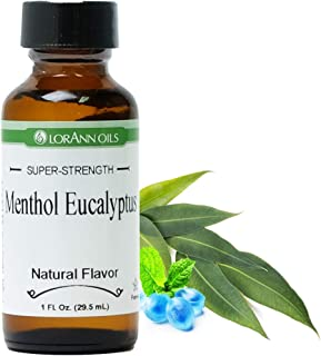 LorAnn Super Strength Menthol Eucalyptus Flavor, Natural, 1 ounce bottle