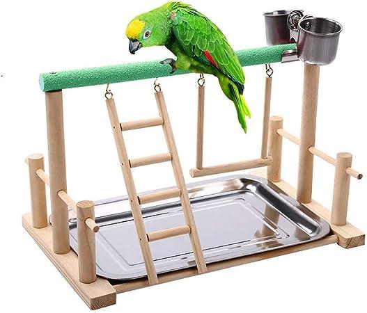giocattolo interattivo per pappagalli VILLCASE Set di giocattoli per addestramento degli uccelli