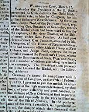 Rare & Early 1824 LEXINGTON KY Kentucky Fayette Urban County Co.Old Newspaper