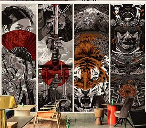 Tapete Fototapete Vlies Tapete 3D Tapeten Benutzerdefinierte Tapete Japanischen Stil Samurai Ukiyo-E Hotel Restaurant Dekorative Malerei Weingut Kunst Tapete