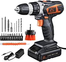 MAIBERG 20V MAX Lithium Ion Cordless Drill, Power Drill Set with 3/8 inches Keyless..
