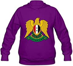 Coat Of Arms Of Syria Crazy Casual Long Sleeve Sweatshirts For Womens