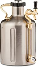 GrowlerWerks uKeg Carbonated Growler, 128 oz, Stainless Steel