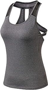 HKVMLCamisetas de Yoga, Chaleco, Camiseta Deportiva para Mujer, Camiseta sin Mangas para Mujer, Camiseta Deportiva sin Mangas para Mujer