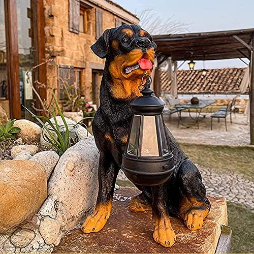 RuBao Adornos de Decoración de Esculturas de Arte de Jardín, Luces de Jardín con Forma de Animal Led Solar para La Decoración del Césped del Balcón del Porche del Patio