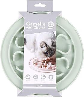 inooko - Gamelle Anti-glouton pour Chat, Antidérapante, Vert Pastel