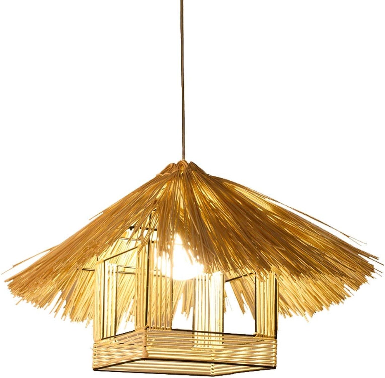 Lanternes de style asiatique du sud-est créatrice personnalité restaurant lumière, rétro bambou lampe en rougein lustre cage à oiseaux lustre (Couleur   A)