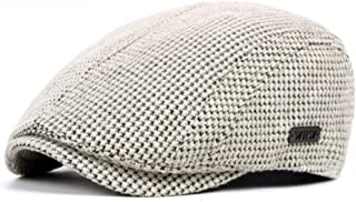 Black Beige Coffee Grey Flat Cap Warm Knitted Autumn Winter Mens Hats British Western Style Beret Caps