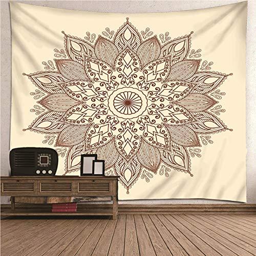 Aimsie Wandteppich, Blumenmotiv Blütenmuster Wandtuch Wald Polyester Wanddeko Mädchen Wanddeko Mädchen Khaki 260X240Cm