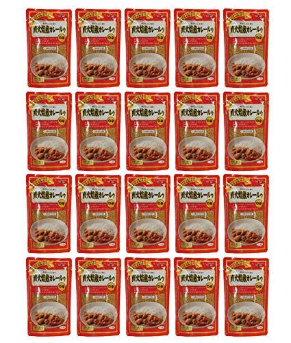 無添加 直火焙煎 カレールゥ ・ 中辛 170g×20個★ 宅配便 ★ 厳選した香り高いスパイスと新鮮な生野菜・果物を使用し、直火の釜で少量ずつ時間をかけて焙煎した 中辛 タイプ の カレールウ です。