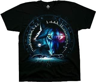 Liquid Blue Wolf Stare Short Sleeve T-Shirt