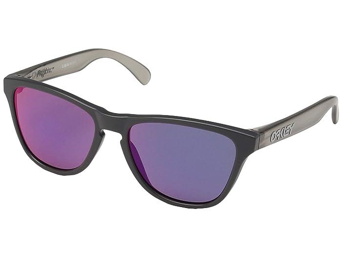 Oakley Frogskin XS (Youth) (Matte Carbon Grey Ink w/ Red Iridium) Sport Sunglasses