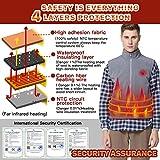 Vinmori Elektrische Beheizte Weste, Waschbare Größe Einstellbar USB-Lade Erhitzt Polaren Fleece Kleidung Winter Warme Weste (Schwarz)… - 5
