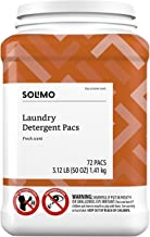 Solimo Amazon Brand Laundry Detergent Pacs, Fresh Scent, 72 Count