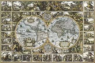 MAP MAGNA CARTA MUNDI Ancient HUGE LAMINATED POSTER