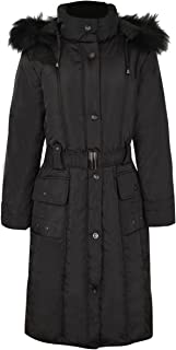 Fashion Thirsty Women's Plus Size Faux Fur Hooded Winter Coat