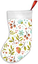 Floral Springsummer Backdrop Cute Nature Christmas Stockings 16.5 Inch Plush Decorations for Family Celebrate Seasonal Dec...