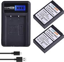 PowerTrust 2Pack PS-BLS1 BLS 1 BLS1 BLS-1 Li-ion Batteries and LCD USB Charger for Olympus E-PL1 E-P1 E-P2 EP3 EPL3 Evolt E400 E410 E420 E450 E620