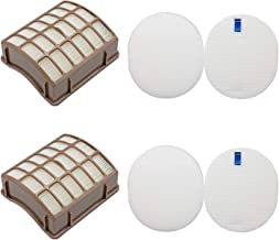Lemige Vacuum Filters Replacement Set for Shark Navigator Rotator Professional NV70 NV71 NV80 NV90 NV95 UV420, Compare to Part XHF80&XFF80, 2 HEPA Filters +2 Foam Filters + 2 Felt Filters