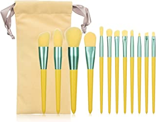 HcccyuyuucHZS Brush, 12Pcs Makeup Brushes Set With Bag Ornamental Powder Eye Shadow Foundation Blush Blending Beauty Yello...