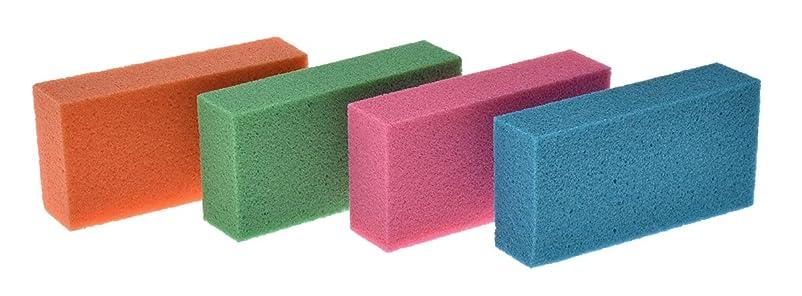 キノコリークドラフトリマーク(Remark) 目詰まりしない〔ドイツの軽石〕 4色組 5×10×2.5cm
