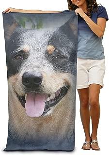 Large Beach Towel Blue Heeler Australian Cattle Dog Pool Towels
