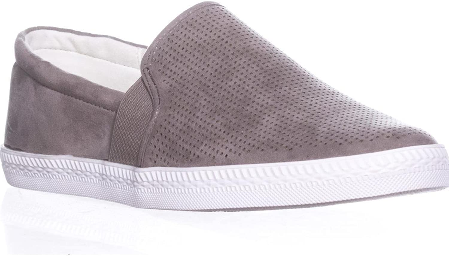Sc35 Louiza Perforated Slip-On Sneakers, Light Grey