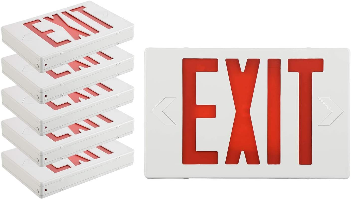 EXITLUX 6 Pack Red Limited time for free shipping LED Exit Liste Emergency with Discount is also underway Lights UL Signs
