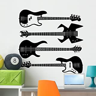 Amazon Com Rock Band Bass Guitar Paint Wall Treatments