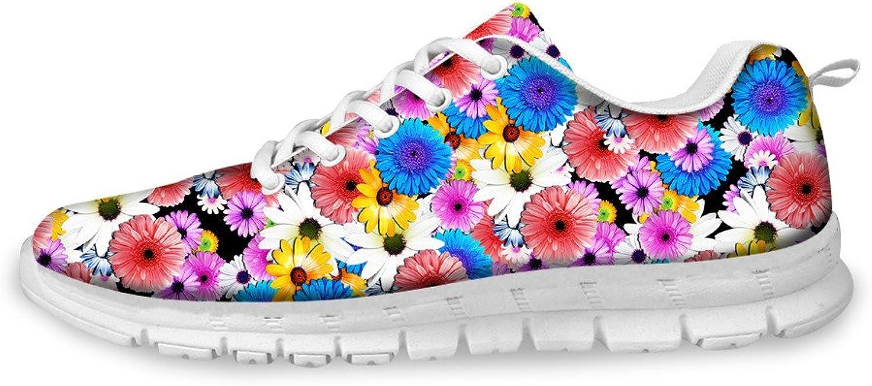 Chaqlin Womens Running shoes 3D Flower Pattern Casual Sneaker