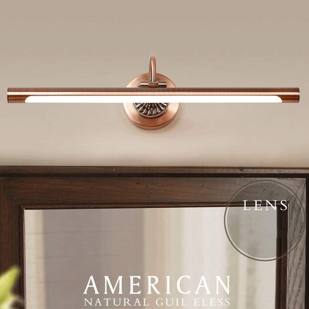 Spiegelleuchten Spiegelfrontleuchte Spiegelscheinwerfer Acryl Lampenschirm Schmiedeeisen Material Wasserdicht und beschlagfrei 45.5cm, 55.5cm, 65.5cm (Farbe : Warmes Licht-8W45.5cm) Weißes Licht-10w55.5cm