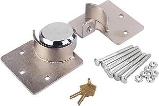 Heavy Duty Puck Lock and Hasp, 1/2 X Van Garage Shed Door Security Padlock Hasp Set Lock 73mm Steel