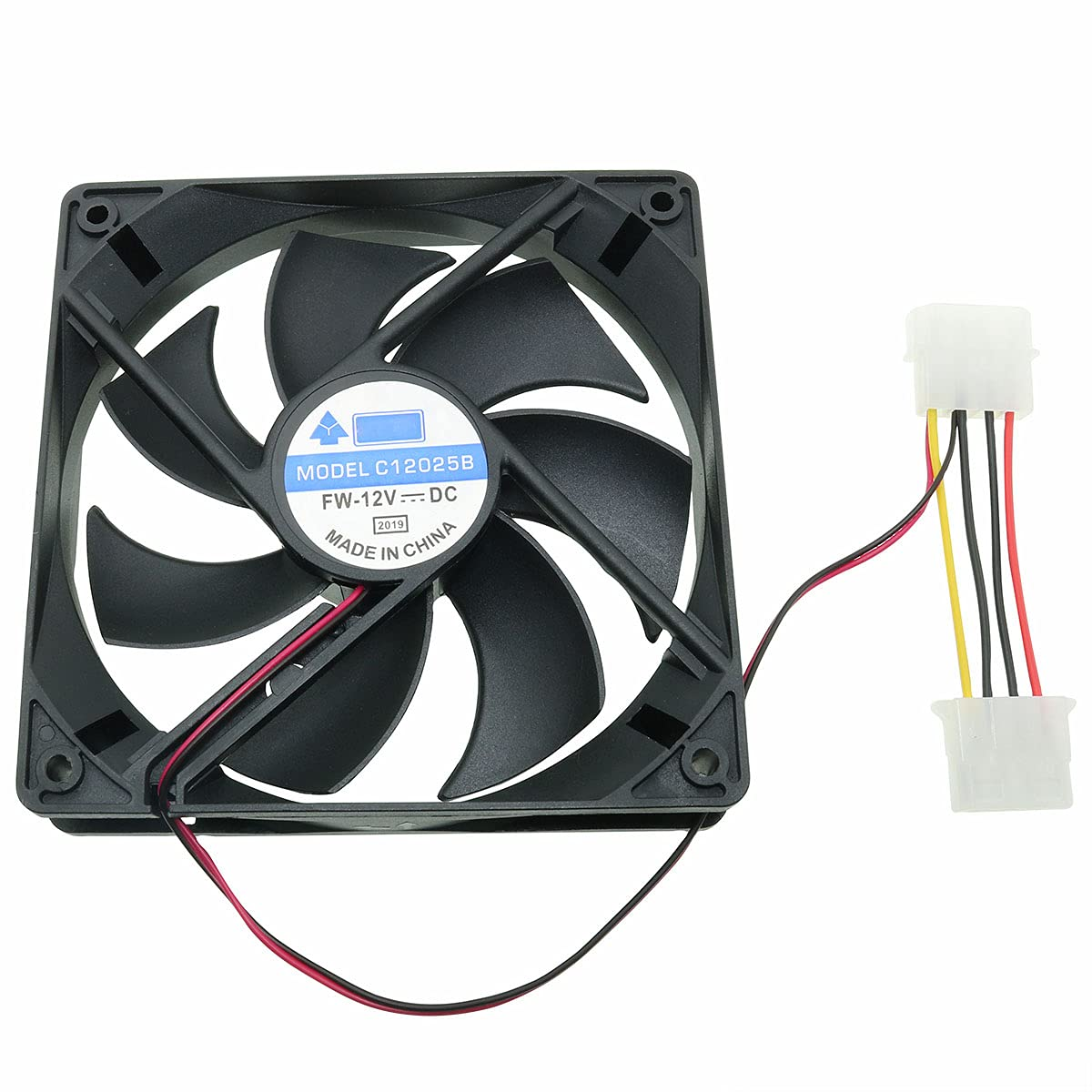 CZQC 120mm Computer Case Fan 120x120x25mm Brand new 4Pin 1200PRM DC Free shipping anywhere in the nation 12V Br