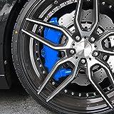 JOM Car Parts & Car Hifi GmbH 200002 Bremssattellack, Bremssattel Lackier- Set, blau, 1K-System, Bremssattellack 75ml, Bremsenreiniger 250ml, Pinsel und Handschuhe