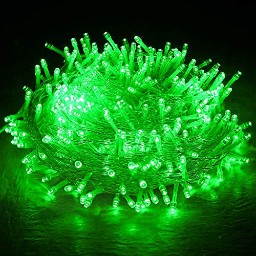 Solar Led Tree Small Lanterns Flashing Lights String Lights Starry Home Decoration Courtyard Balcony Garden Seven Colors Green 12 Meters 100 Lights—【Solar Energy】
