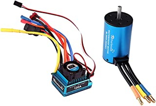 NON Sharplace Metal 3660 3800KV Motor & 120A Brushless ESC para 1/8 1/10 RC Coche Partes