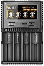 Nitecore SC4 - Cargador Profesional para baterías de Ion de Litio y NiMH, Pantalla LCD