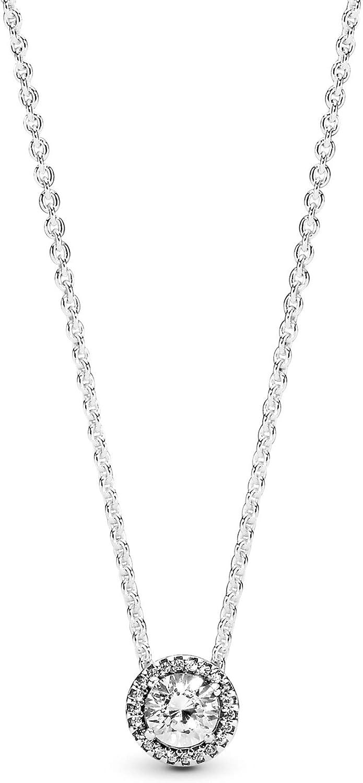 Pandora collana in argento sterling 925, impreziosito da un generoso pendente con zirconia da donna 396240CZ-45