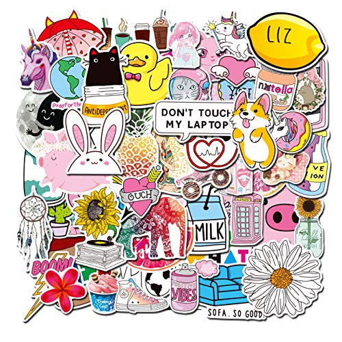 Sweetures vsco 145pcs Cute Sticker Lovely Stickers for Water Bottles,Hydro Flask,Fridge,Laptop,Skateboard,Bike,Luggage,Phone,Party Favors for Teenage Girls,Woman,Graffiti Decal-Waterproof
