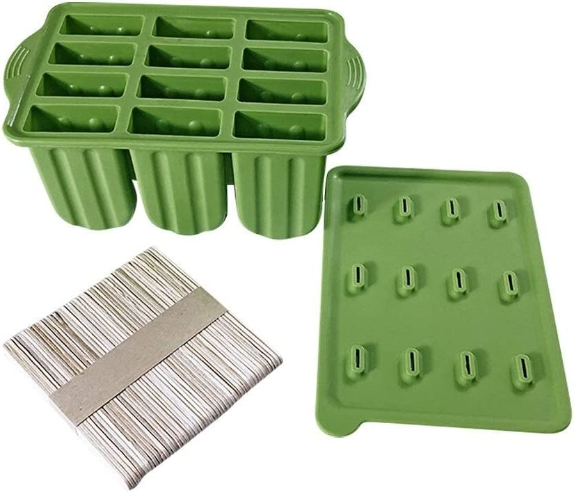 Ice Popsicle Manufacturer OFFicial shop Maker 12 Cavities Molds Max 45% OFF Shapes Homemade Si