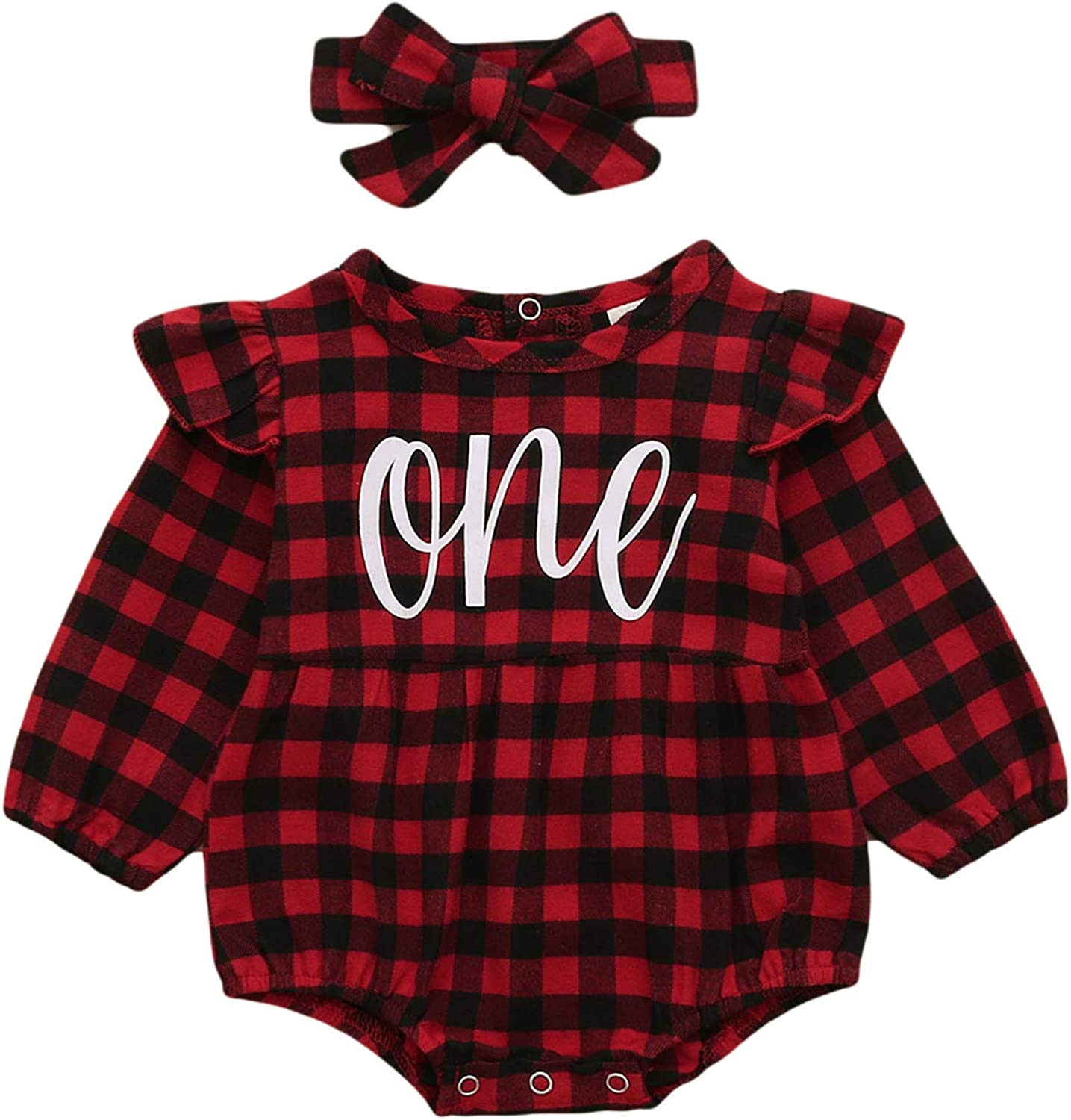 Shalofer Baby Girls One Year Old Romper Outfits First C Large-scale Fresno Mall sale Birthday