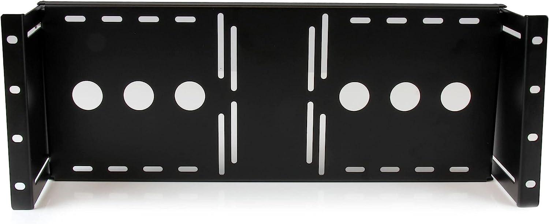 StarTech.com 4U Universal VESA LCD Monitor Mounting Bracket for 19-inch Rack or Cabinet - TAA Compliant - Cold-Pressed Steel Bracket (RKLCDBK)