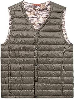 neteasegensen Men Down Vest Lightweight Water-Resistant Packable Down Vest Gilet Outdoor Winter Big Size Vest Coats